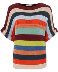 Paul by Paul Smith - Red Horizontal Stripe Jumper - Lyst
