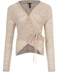 Sarah Pacini - Light Pink Midar Drape Jacket - Lyst
