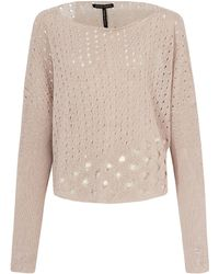 Sarah Pacini - Light Pink Karia Slouchy Crop Top - Lyst
