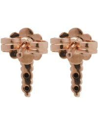 Anna Sheffield - Rose Gold Pave Point Stud Earrings - Lyst