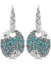 Stephen Dweck - Silver Oval Blue Topaz Drop Earrings - Lyst