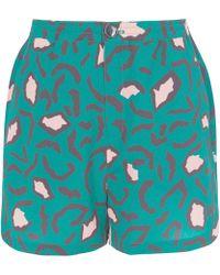 Libertine-Libertine - Green High Print Shorts - Lyst