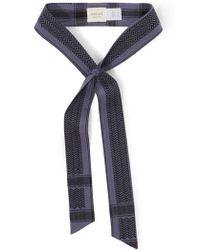 Cecilie Copenhagen - Blue Printed Cotton Band Belt - Lyst