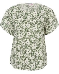 Uniqlo - Jody B Printed Linen Short Sleeve Blouse - Lyst