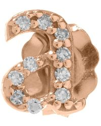 KC Designs - Rose Gold Diamond A Single Stud Earring - Lyst