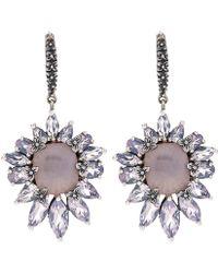Stephen Dweck - Crystal Quartz And Lavender Moon Quartz Earrings - Lyst