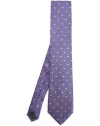 Simon Carter - West End Herringbone Dot Silk Tie - Lyst