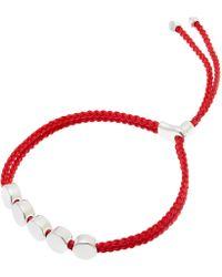 Monica Vinader - Silver Linear Bead Friendship Bracelet - Lyst
