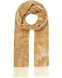 Johnstons - Cashmere Feather Jacquard Scarf - Lyst
