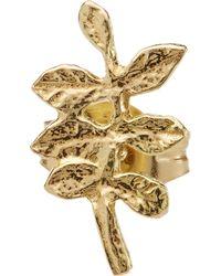 Alex Monroe - Gold Verity Leaf Single Stud Earring - Lyst