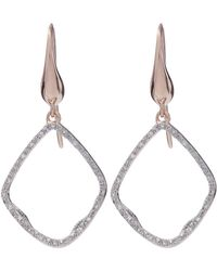 Monica Vinader - Gold-plated Riva Diamond Hoop Earrings - Lyst