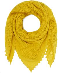 Jo Gordon - Knitted Lace Square Lambswool Scarf - Lyst