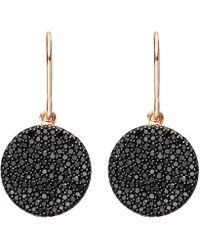 Astley Clarke - Rose Gold Icon Black Diamond Earrings - Lyst