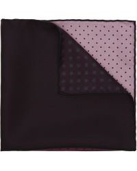 Lanvin - Silk Polka Dot Pocket Square - Lyst