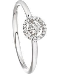 Astley Clarke - White Gold Mini Icon Aura Diamond Ring - Lyst