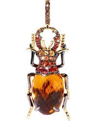 Annoushka Mythology Beetle Citrine Charm