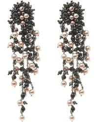 Oscar de la Renta - Runway Delicate Flower Chain Drop Clip-on Earrings - Lyst