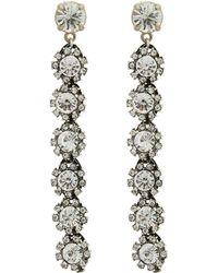 Lulu Frost - Silver-plated Royale Crystal Line Earrings - Lyst