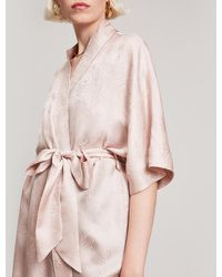 Liberty - Hera Silk Jacquard Short Kimono - Lyst