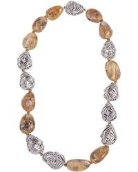 Stephen Dweck - Silver Rutilated Quartz Necklace - Lyst