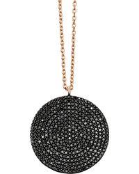 Astley Clarke - Rose Gold Large Icon Black Diamond Pendant Necklace - Lyst
