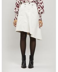 Isabel Marant Dranel Asymmetric Denim Skirt - Multicolour