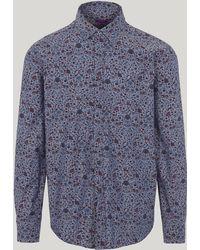 Liberty - Imran Chambray Cotton Long-sleeved Lasenby Shirt - Lyst