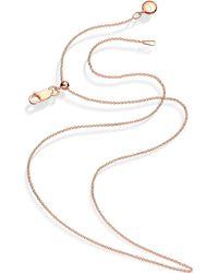 Monica Vinader - Rose Gold Vermeil Short Rolo Chain - Lyst