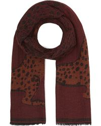 Paul Smith - Lucy Leopard Print Wool-blend Scarf - Lyst