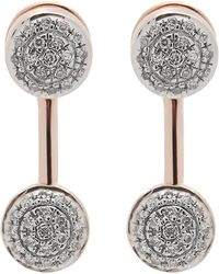 Monica Vinader - Rose Gold-plated Fiji Mini Button Diamond Jacket Earrings - Lyst