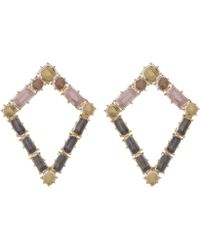 Larkspur & Hawk - Gold-dipped Silver Caterina Kite Earrings - Lyst