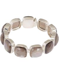 Stephen Dweck - Silver Smoky Quartz And Mother Of Pearl Large Line Bracelet - Lyst