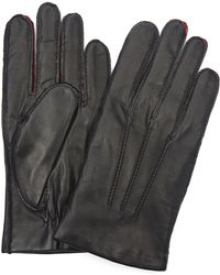 Simon Carter - Contrast Leather Gloves - Lyst