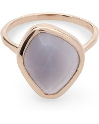 Monica Vinader - Rose Gold-plated Siren Nugget Grey Agate Stacking Ring - Lyst