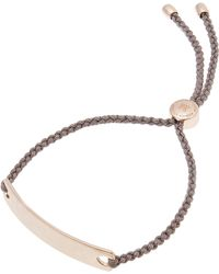 Monica Vinader - Rose Gold-plated Mink Cord Havana Friendship Bracelet - Lyst