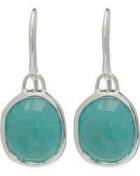 Monica Vinader - Silver Amazonite Siren Wire Earrings - Lyst