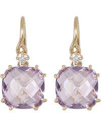 Suzanne Kalan - Gold Amethyst Diamond Drop Earrings - Lyst