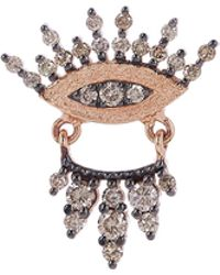 Kismet by Milka - Rose Gold 10th Eye Regina Diamond Single Stud Earring - Lyst