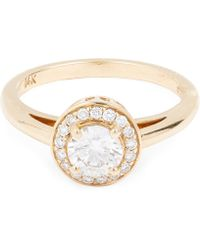 Anna Sheffield - Gold Round Brilliant Diamond Ring - Lyst