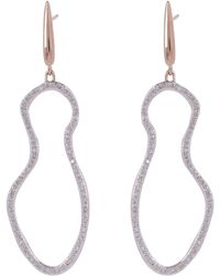 Monica Vinader - Rose Gold-plated Riva Pod Drop Cocktail Earrings - Lyst