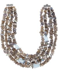 Stephen Dweck - Silver Labradorite And Aquamarine Beaded Necklace - Lyst