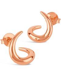 Dinny Hall | Rose Gold-plated Toro Small Twist Stud Earrings | Lyst