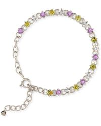Dinny Hall - Suffragette Sterling Silver Gem Drop Bracelet - Lyst