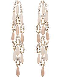Rosantica - Gold-tone Hollywood Pink Quartz Crystal Drop Earrings - Lyst