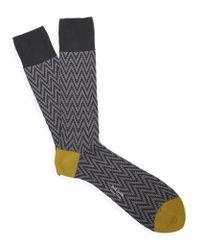 Paul Smith - Herringbone Zig Zag Socks - Lyst