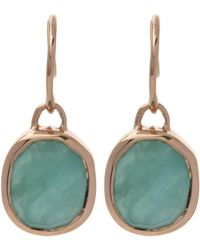 Monica Vinader - Rose Gold-plated Amazonite Siren Wire Earrings - Lyst