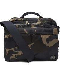 5aa0e6f706 Porter - Camo Print Camera Two-way Shoulder Bag - Lyst