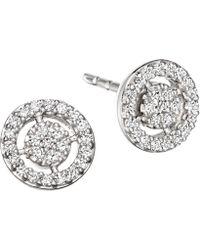 Astley Clarke - White Gold Mini Icon Aura Stud Earrings - Lyst