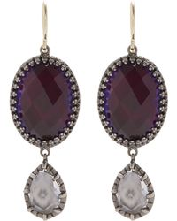 Larkspur & Hawk - Silver Sadie Oval And Pear Drop Earrings - Lyst