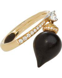 Annoushka - Touch Wood Gold Ebony Charm Ring - Lyst